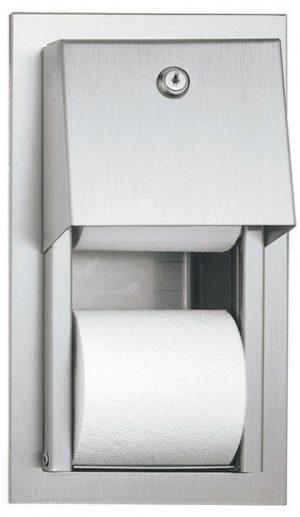 מתקן נייר טואלט שקוע בקיר