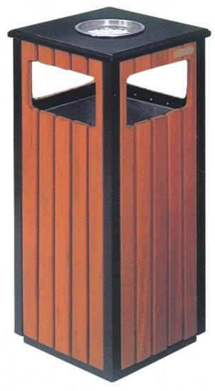 פח עם מאפרה מרובע וחיפוי עץ עם פח פנימי