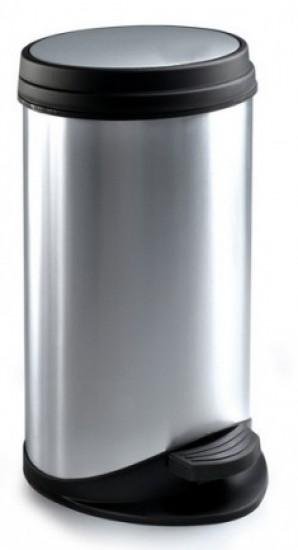 פח 30 ליטר דמוי נירוסטה עם דוושה