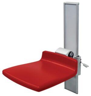 כיסא מקלחת מתכוונן על מסילה